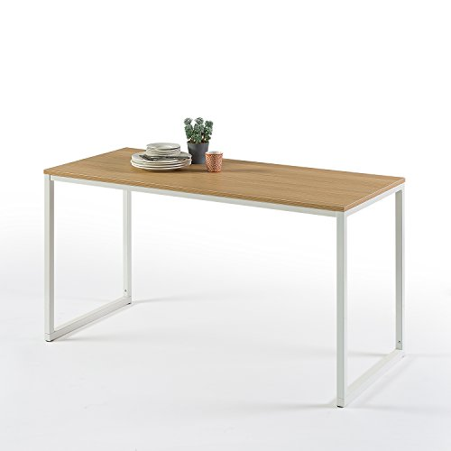 Zinus Modern Studio Collection Soho Rectangular Dining Table / Table Only / Office Desk / Computer Table, White