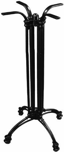 ATC Andalusia Black Cast Aluminum 4-Leg Table Base, Bar Height, 21