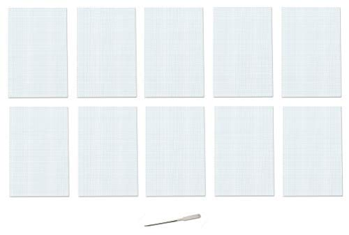 Ampad Quadrille Double Sided Pad, 11 x 17, White, 4x4 Quad Rule, 50 Sheets, 10 Pads, 500 Sheets Total (22-037)