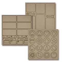 Biggest Board 12x12 Chipboard Sheets, 3/Pkg: Mix-N-Match -