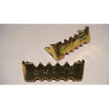 100 Brass Plated Small No Nail AMS Sawtooth Picture Hangers for Hardwood