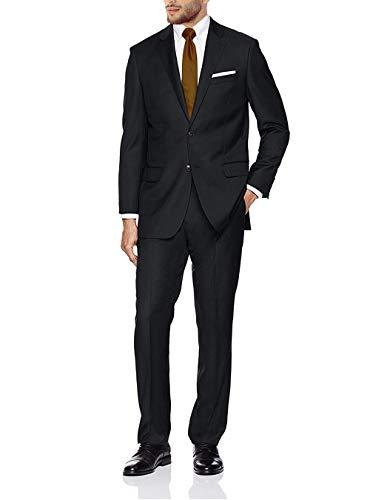 GN GIORGIO NAPOLI Presidential Men's 2 Button Suit Separate Coat Blazer (40 Regular US / 50 Regular EU, Black)
