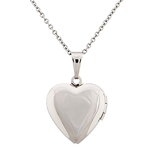 Paialco Open Heart Locket Pendant Necklace for Love Memory Photo Keeping, 18