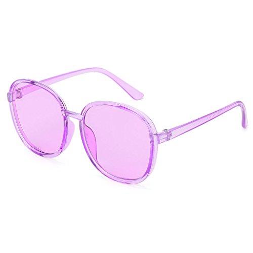 1 Mujer 3 Hombre cuadradas Sol y Transparente Gafas para Color Kimruida de vqfXX