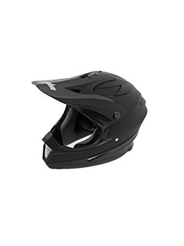 (Cyclone ATV MX Dirt Bike Off-Road Helmet DOT/ECE Approved -Matte Black- Youth MD)