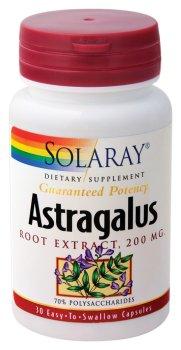 Solaray - extrait de racine d'astragale, 200 mg, 30 capsules