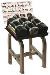 New Powerblock U90 Clubset mancuernas ajustables 2,5 – 40 kgs con soporte y Poster