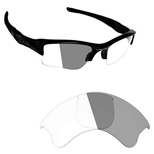 Alphax Adapt Grey Photochromic Replacement Lenses for Oakley Flak Jacket XLJ
