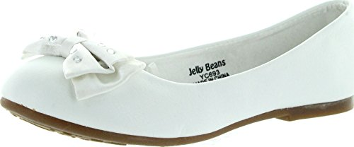 Jelly Beans Girls Titi Cute Dress Flats Shoes,White,9