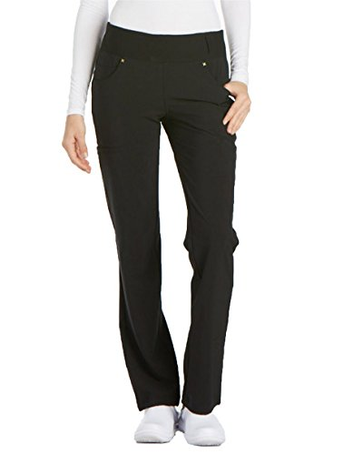 Cherokee iFlex CK002 Mid Rise Pull-On Pant Black L Tall