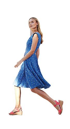 BODEN Blue Polka Dot Summer Flowershow Dress Size US 12 L from BODEN