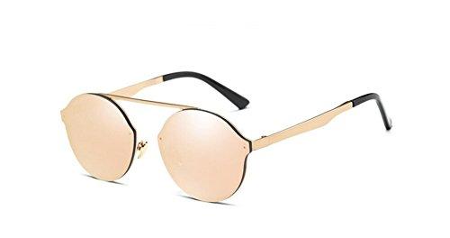 gafas gafas LSHGYJ coloridos sol moda powder box sol film Gafas de caja redonda Barbie metal de sol GLSYJ de Gold RPqxPr6wp8