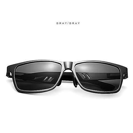 JGOLHJGKJ55 Gafas Aluminio magnesio Gafas de Sol polarizadas Hombres Diseñador de la Marca Gafas de conducción