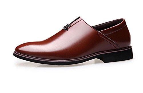 Affaires Cuir Chaussures Cuir Hommes Occasionnels en Chaussures Britanniques en Chaussures Chaussures Robe brown Respirant Printemps LEDLFIE Pour zqIwEdI