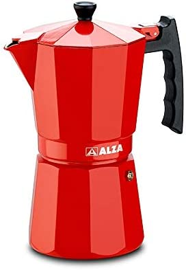 Luxe Red ALZA Cafetera moka o italiana 9 tazas válida para ...