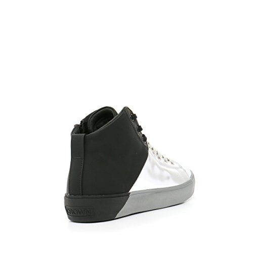 Chaussures Leather Crown Crown Chaussures Argent Argent Leather Leather YqORY1S