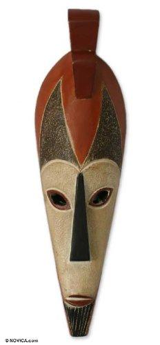 Amazon.com: Decorativo Novica máscara de madera grandes ...