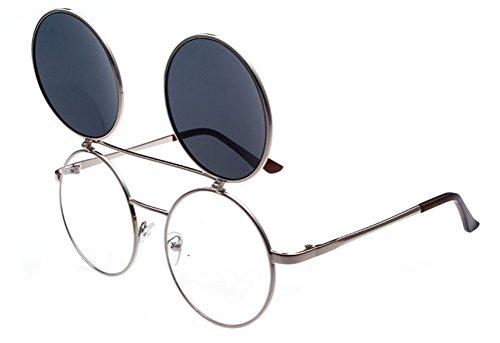 GAMT 80'S Retro Goggles Flip Up Round - Sunglasses Different