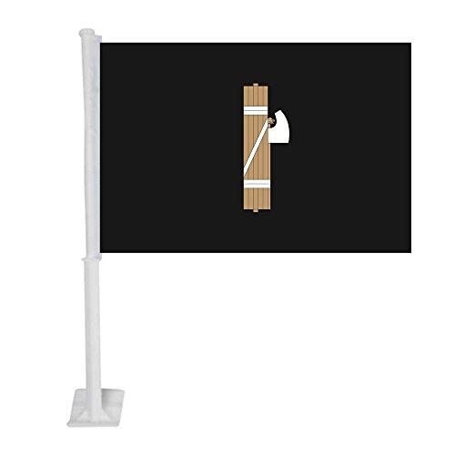 APFoo Italian Fascist 1930s 1940s Car Window Flag With pole 12x18inch