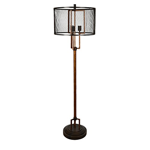 Crestview Metal Floor Lamps Cvaer936 Winchester Copper And Iron Finish Floor Lamp 18 X 62 X 18 Inches Copper