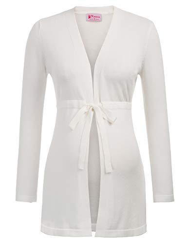 - Women Maternity Long Sleeve Empire Belt Knitting Coat Knitwear Cardigan