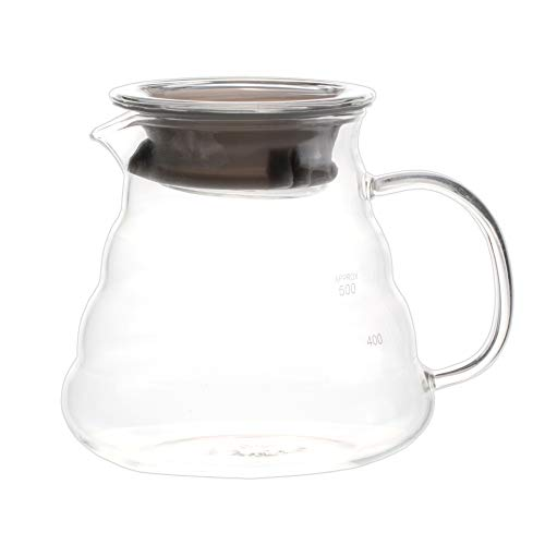 (Blue Brew BB1008 Borosilicate Glass Coffee Server | 600 ML | Heat Resistant Glass Construction | Superior Heat Resistance | Range Server | Perfect for Pour Over Coffee Dripper Method)