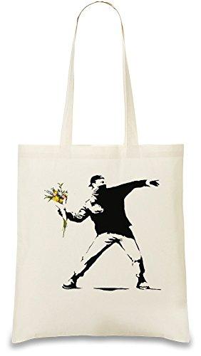 Banksy Flower Sac à main
