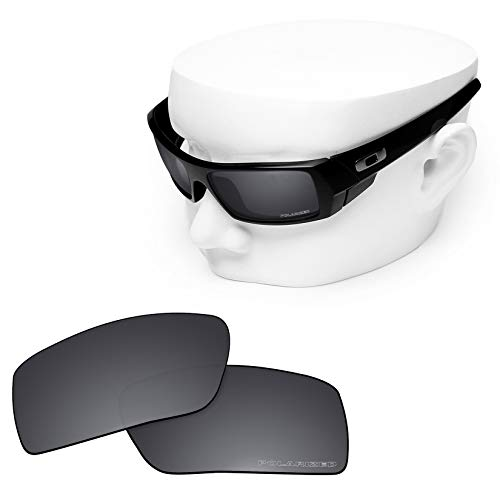 OOWLIT Replacement Lenses Compatible with Oakley Gascan Sunglass Dark Chrome Polycarbonate Combine8 - Polycarbonate Lens