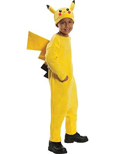 Pokemon Child's Deluxe Pikachu Costume - One Color - Medium