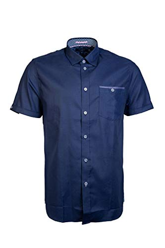 Ted Baker Wallaby Short Sleeve Shirt in Navy XL