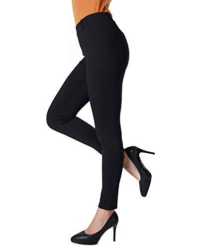 27c67af6faa826 Bamans Yoga Dress Pants, Tummy Control Workout Leggings for Women, Office  Strechy Skinny Pants