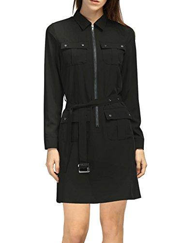 Buy belted black shirt dress - 4