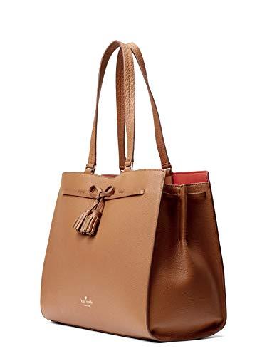 Kate Spade Women's Leather Hayes Tote Handbag Large (Brown)