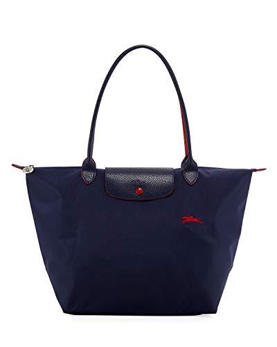 Longchamp 'Medium 'Le Pliage Club' Nylon Tote Shoulder Bag, Navy (Longchamp Tote Navy)