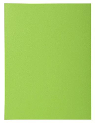 (Exacompta 218013E Rock's 210 1 Flap Folder, A4, Green, Pack of 50)
