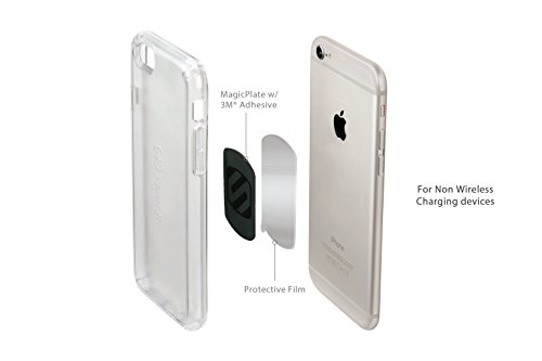 SCOSCHE MagicMount Magnetic Mount Replacement Plate Kit - MagicPlate Color Matching Plates for iPhone/iPad and Other Smart Devices - Includes 3 Plates and 2 Cleaning Swabs - Black (MAGRKI) by Scosche (Image #2)