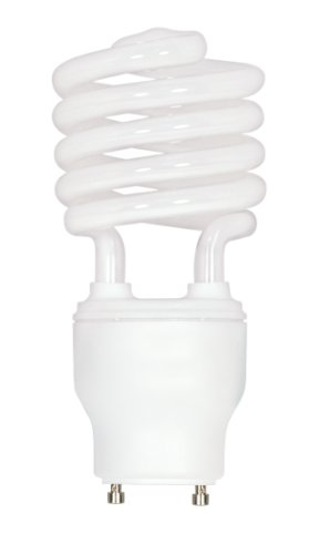 Satco S8206 23 Watt (100 Watt) 1600 Lumens Mini Spiral CFL Soft White 2700K GU24 Base Light Bulb ()