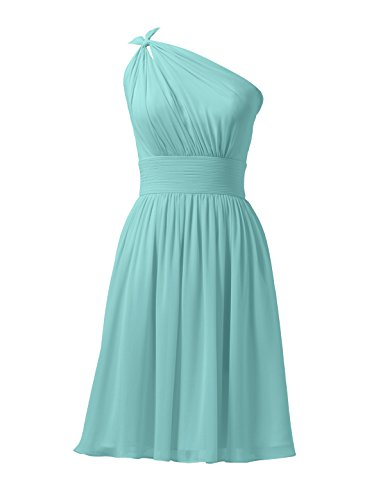 - Alicepub Chiffon Bridesmaid Dresses Short Prom Party Dress Evening Gown Formal Gown, Tiffany, US0
