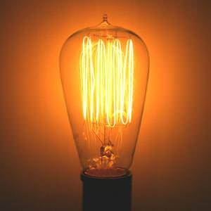 Satco 60w 120v ST19 Clear Vintage Style Incandescent Light B