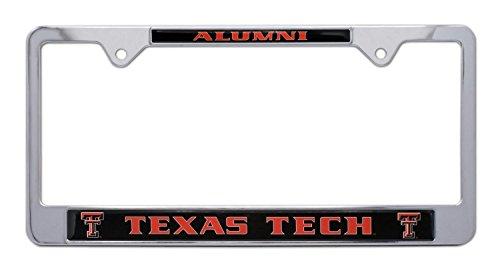 Texas License Plate Frames - All Metal NCAA TTU Red Raiders Alumni License Plate Frame (Texas Tech)
