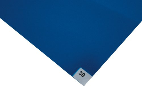 Wearwell Polyethylene 95 Contamination Control Mat, for Dust and Dirt Areas, 18'' Width x 36'' Length x 1/8'' Thickness, Blue (Pack of 4) by Wearwell