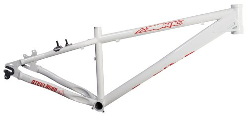 amazoncom azonic 08 steelhead pro dirt jumping mountain bike frame white xl hardtail mountain bicycle frames sports outdoors - Dirt Jump Frame