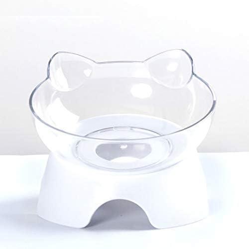 Dmqpp - Haustier Hund Katze Geneigte Mund Doppel Trinkwasser Schutz Halswirbel Bowl 505 (Color : A)