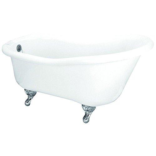- Elizabethan Classics ECGASL66 5-1/2-Feet Acrylic Slipper Tub, White