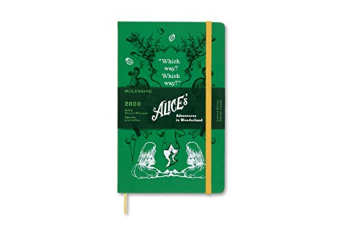 Moleskine 2020 Alice Wonder Daily Planner, 12M, Large, Green, Hard Cover (5 x 8.25)