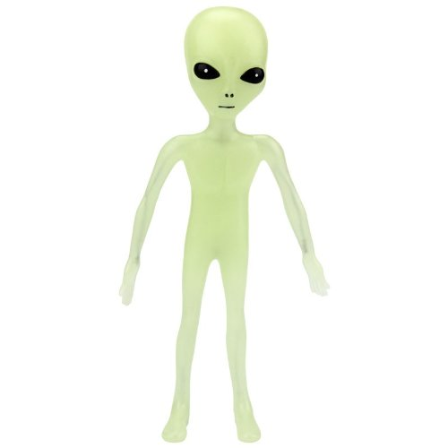 "Off the Wall Toys Alien Glow-in-the-Dark 6"" Bendable Action Figure Toy"