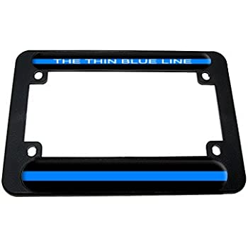 Amazon.com: Thin Blue Line - Police Motorcycle License Plate Tag ...