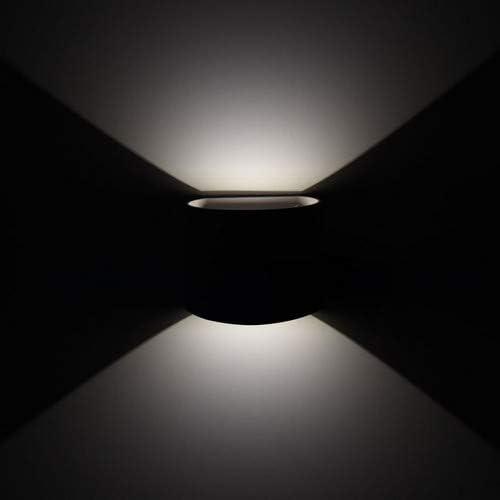 V TAC VT 756 Outdoor wall lighting Negro E27 6 W LED
