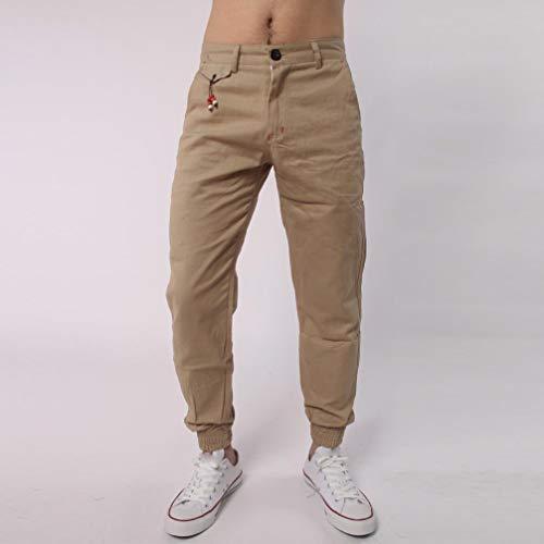 Realdo Clearance Casual Slack Solid Harem Sweatpants Loose Jogger Pant Sportwear Comfy for Men(X-Large,Khika) by Realdo (Image #1)