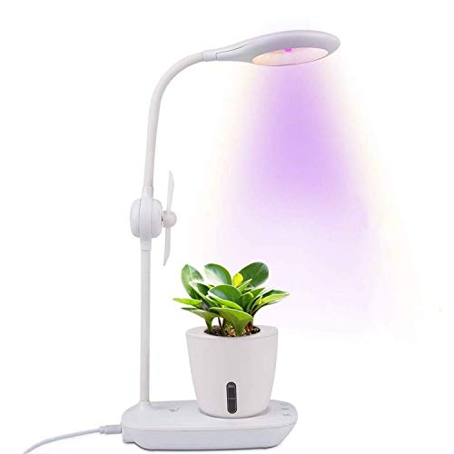 LED Grow Light 20W & Table Lamps, Relassy Eye-Caring Table Light & Full Spectrum Desk Lamp, Touch Control with Hydroponic Pot/USB Charging Port/Air Circulation Fan, for Bedrooms&Office, (Fruit Design Table Lamp)